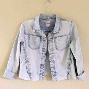 NEW Kensie Jeans cropped denim jacket